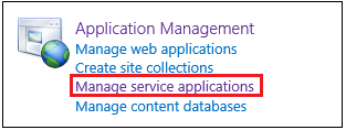 Manage Search Service Application Navigation