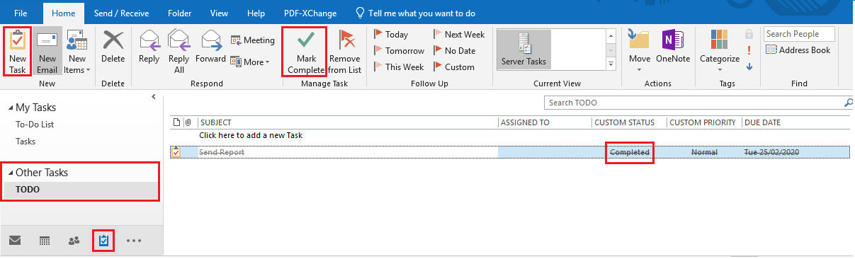 SharePoint Task List in Outlook