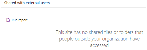 SharePoint online Site Usage Content Shared with external users