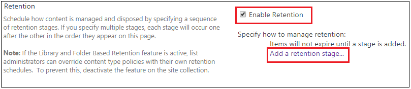 Site Collection Edit Retention Policy 2