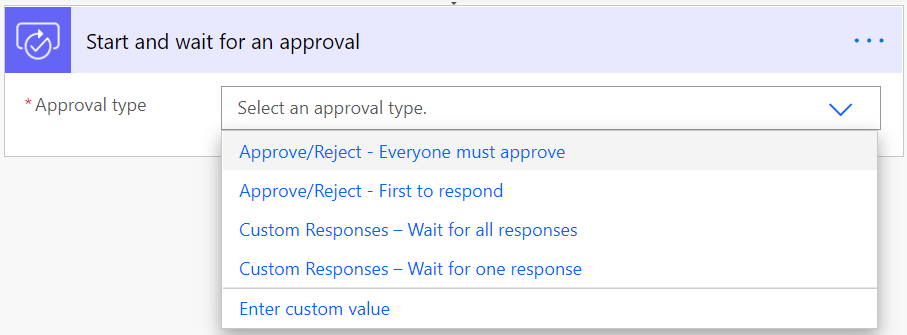 flow action approval type