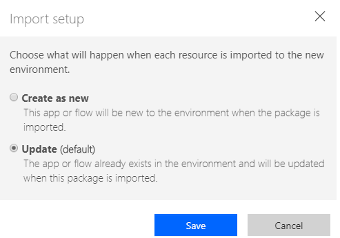 ms flow import setup create update