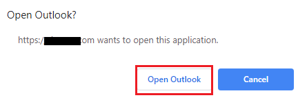 open outlook prompt