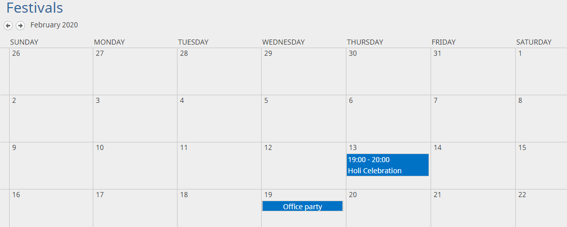 outlook event synced in sharepoint